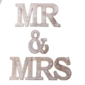 WOODEN MR&MRS