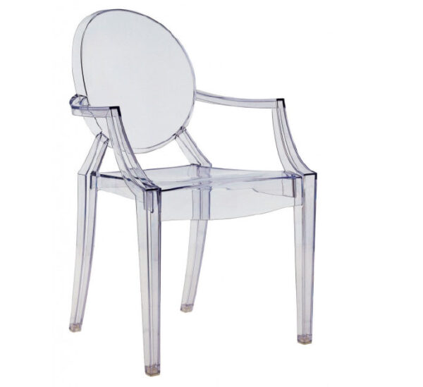 LOUIS GHOST CHAIR WITH ARMS
