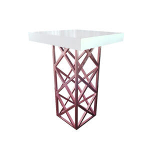 SQUARE TOP GEOMETRIC COCKTAIL PLINTH