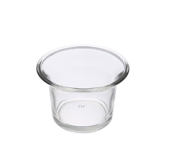 CLEAR TEA-LIGHT HOLDER