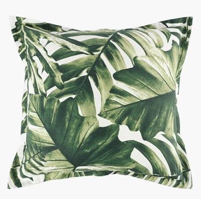 scatter cushion aloha green
