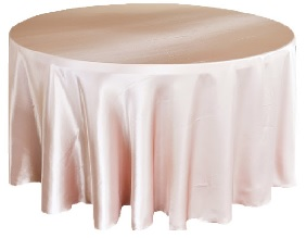 SATIN BLUSH TABLECLOTH
