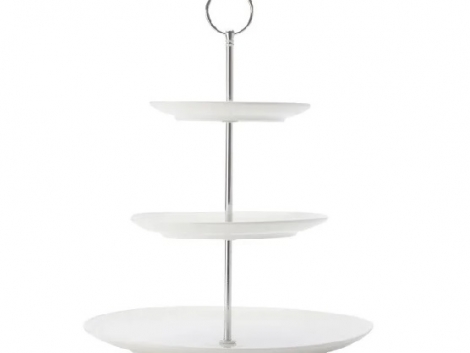 CAKE STAND 3 TIER PORCELAIN